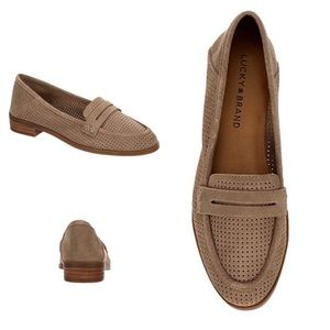 Lucky Brand Caylon Suede Tan Loafers
